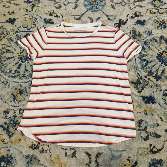 American Eagle Seriously Soft Striped Tee